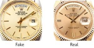 Rolex Real vs Fake Dials
