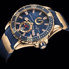 ulysse nardin gold highlights marine diver watch